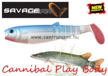 SAVAGE GEAR LB Cannibal Play Body  8cm gumihal Blue Pearl (61847)