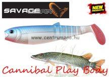 SAVAGE GEAR LB Cannibal Play Body  8cm gumihal Blue Pearl (61847)