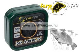 Carp Spirit Re-Action Braid 25lbs 20m Camo Brown - fonott előkezsinór