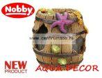 Nobby akvárium dekorációs elsüllyedt hordó 9x8,8x8,5cm (28137)
