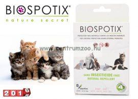 BIOSPOTIX SPOT ON kullancs és bolha elleni csepp macskáknak 5db spot-on
