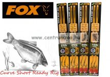 Fox EDGES™ 15lb, Size 8 Curve Short Ready Rig Weedy Green  (CCR133) ELŐKÖTÖTT BOJLIS HOROG