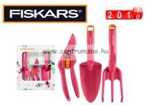 Fiskars Inspiration Set Professzionális olló, ültetőlapát, talajlazító szett (1020419) Pink