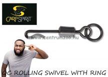 Carp Spirit QC ROLLING SWIVEL WITH RING gyorskapocs matt fekete 10db (ACS290012)