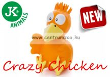 JK Animals Latex Crazy Orange Chicken 13cm (46831-2) Narancssárga