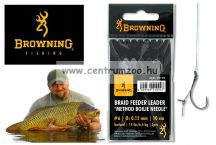 BROWNING  BRAID FEEDER LEADER METHOD BOILIE NEEDLE BRONZE előkötött horog 6# 0,12mm 6,4kg 3db (4721012)