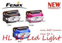 fejlámpa  FENIX HL15 Bmlue LED FEJLÁMPA (200 LUMEN) vízálló NEW - KÉK