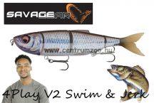 Savage Gear 4Play V2 Swim & Jerk 13,5cm 20g SS 02-Roach gumihal (61726)