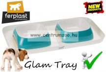 Ferplast Glam Tray Bowl Small Blue dupla tál  (71908522) kék