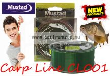 Mustad CL001-8-300 Carp Line 0,26 mm 10 LB - 300m 4,5kg monofil zsinór (NLMU10213)