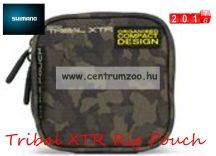 SHIMANO Tribal XTR 1/4 Rig Pouch etető anyagos és szerelékes táska 15x15x5cm (SHTRXTR103)