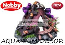 Nobby akvárium dekoráció - elsüllyedt horgony 15,5x13,5x10cm (28002)