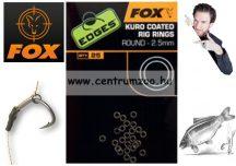Fox EDGES™ Kuro Coated Rig Rings - 2.5mm Small 25db (CAC543)