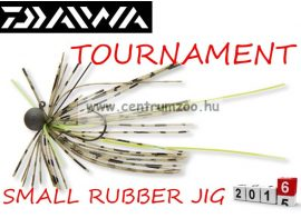 DAIWA TOURNAMENT SMALL RUBBER JIG SS jigfejes horog  (15602-002) - green pumpkin