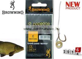 BROWNING Ready Rigs Hooks előkötött horog karikával 10-es méret 0,22mm 8db (4706010)