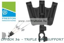 PRESTON OFFBOX 36 - TRIPLE ROD SUPPORT TOPSET - 3 BOTOS BOTTARTÓ ADAPTER (P0110006)