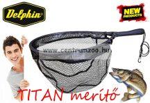 MERÍTŐ Delphin TITAN rablóhalas merítő gumírozott hálóval 40x30cm (942000252)