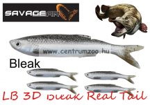 SAVAGE GEAR LB 3D Bleak Real Tail 10.5cm 8g 5db 01-Bleak gumihal (48734) küsz utánzat