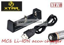 Xtar MC1 Li-ION AKKU TÖLTŐ (18650 ARB-L2 2600-3400mAh akkumulátorhoz)