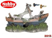 Nobby akvárium dekorációs elsüllyedt csónak 21x13,5x8cm (28026)