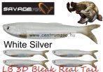 Savage Gear LB 3D Bleak Real Tail 8cm 3g 5db 05-White Silver gumihal (50445) küsz utánzat