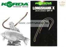 KORDA horog Long Shank X hook (KLSX2)