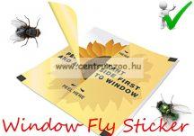 Window Fly Sticker – ablakmatrica esztétikus LÉGYRAGASZTÓ LAP - Napraforgó