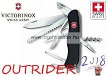 Victorinox Swiss OUTRIDER jobb és bal kezes fekete zsebkés, svájci bicska  0.8513.3
