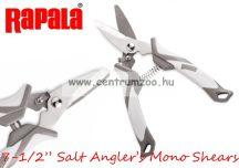 "Rapala 7-1/2"" Salt Angler's Mono Shears olló 18cm - fonott zsinórokhoz is (SAMSH)"