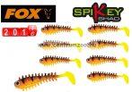 Fox Rage Micro Spikey Shad Hot Tiger 4cm Micro prémium gumihal 8db (NSL841)