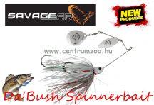 SAVAGE GEAR Da'Bush Spinnerbait 42g #4 White Silver Holo Flame villantó (42149)