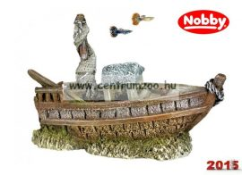 Nobby akvárium dekorációs elsüllyedt hajó 14,5*9,5*6cm (28442)