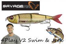 Savage Gear 4Play V2 Swim & Jerk 13,5cm 20g SS 04-Rudd gumihal (61728)