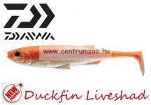 Daiwa Duckfin Liveshad prémium gumihal 10cm 3db Orange Pearl (16705-003)