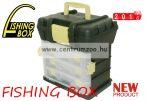 FISHING BOX K4 TIP.1077 szerelékes horgászláda 34x26x35,5cm (75091-077 75009-077)