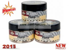 Dynamite Baits bojli Fluro Pop Ups & Dumbells The Source - fehér - 15mm - DY056