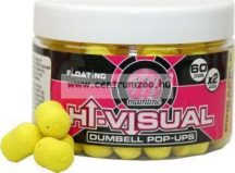 MAINLINE Baits High Visual Pop-Ups Dumbell Yellow Pineapple 10mm 60db lebegő fluo bojli (M13013)