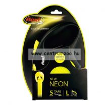 Flexi Neon L Tape 5m 50kg szalagos automata póráz - fényvisszaverő (11942)