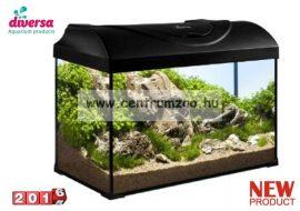 DIVERSA 50 LED Startup Black EGYENES 38 literes felszerelt akvárium szett - fekete színben
