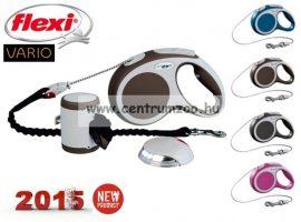 Flexi Vario 2015NEW XS BRAUN 3m 8kg automata póráz -BARNA