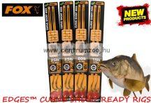 Fox EDGES™ 25lb, size 4 Curve Short Ready Rigs Gravelly Brown  (CCR135) ELŐKÖTÖTT BOJLIS HOROG