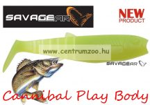 SAVAGE GEAR LB Cannibal Play Body  8cm gumihal Chartreuse (57478)