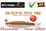 Savage Gear LB 3D Bleak Real Tail 13.5cm 14g 4pcs 08-Minnow gumihal (57499) NEW