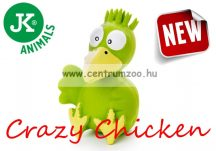 JK Animals Latex Crazy Green Chicken 13cm (46831-1) Zöld