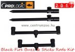 Prologic Black Fire Buzz & Sticks 3 Rods Kit - buzzbar és leszúrő szett 3 botos (49880)