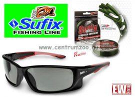 Sufix 832+ Sunglasses fonott zsinór 0.13mm/8.2kg  zöld 120m + napszemüveg