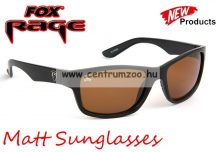 FOX Rege Sunglasses Matt Black Frame - Brown Lense polar napszemüveg (NSN001)