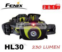 FENIX HL30 FEJLÁMPA (230 LUMEN) vízálló  ZÖLD