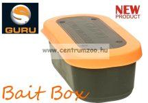 Guru Bait Box 1pint 0,57l csalitartó doboz biztos zárással - LYUKACSOS TETŐVEL (GBB1)
