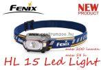 fejlámpa  FENIX HL15 Purple LED FEJLÁMPA (200 LUMEN) vízálló NEW - LILA